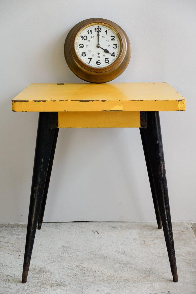 Original TOLIX-Tisch / Bistrotisch Modell 55, 50er Jahre, Jean Pauchard