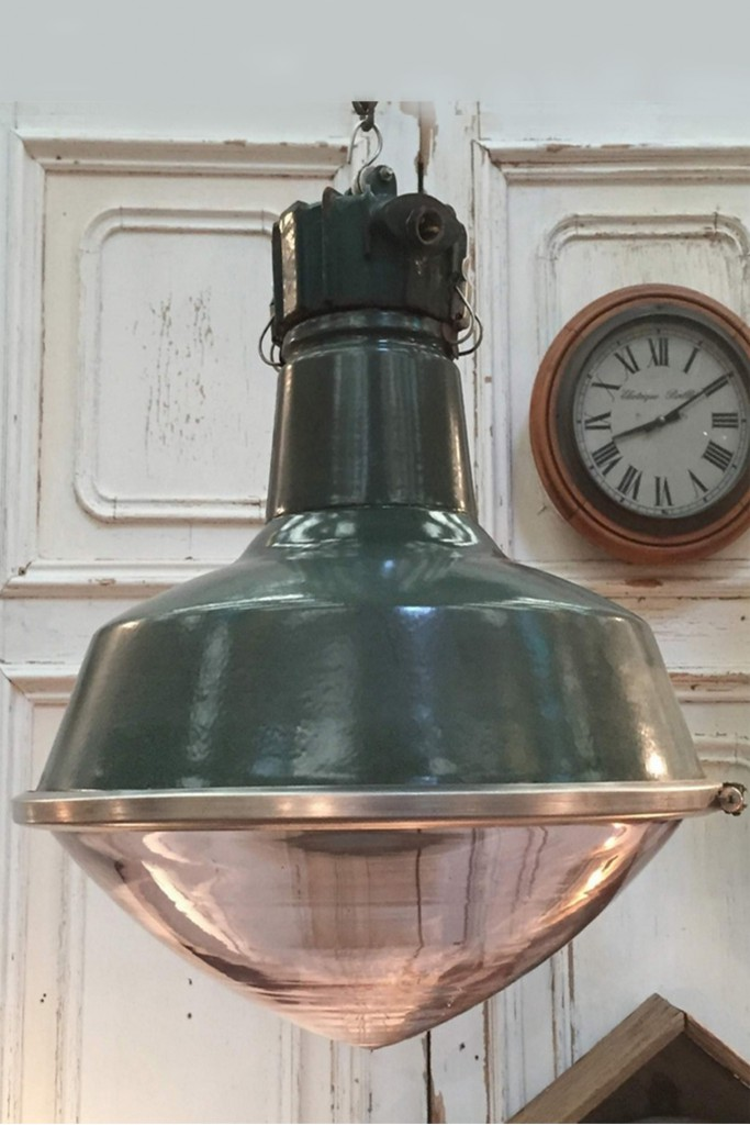 Große Industrielampe / Fabriklampe in außergewöhnlichem Design! England um 1930