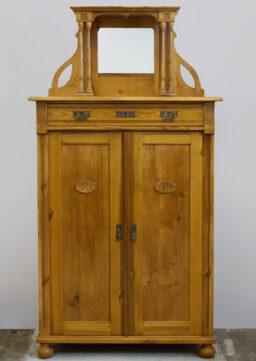 Jugendstil-Vertiko mit Spiegelaufsatz um 1910