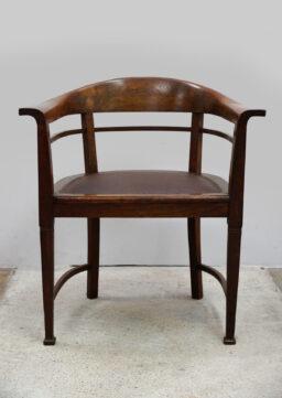 Formschöner Jugendstil Schreibtischstuhl / Armlehnstuhl um 1910