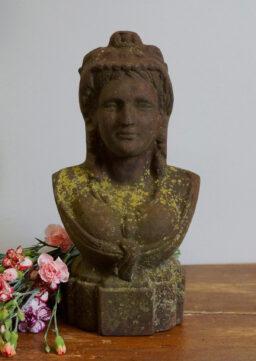 Antike Frauenbüste aus Gusseisen, Anfang 20. Jh.