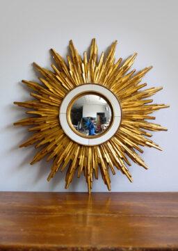 Prächtiger Sonnenspiegel / Spiegel aus Frankreich, 1950er Jahre