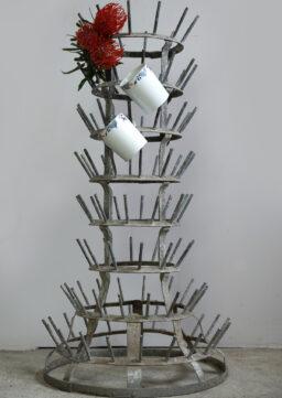 Runder Flaschentrockner / Glass Bottle Rack, Frankreich, 1930s