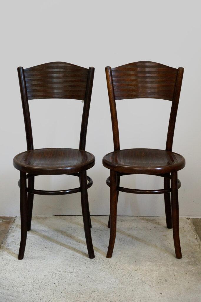 Paar Bugholzstühle von Fischel um 1910
